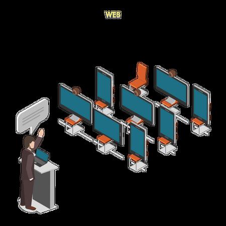 Web Conference Illustration