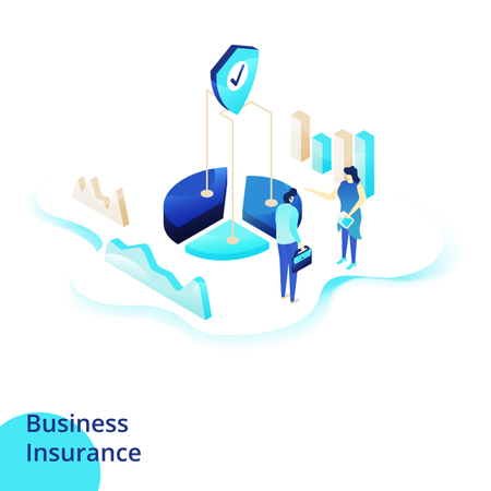 Web design page templates for Business Insurance Illustration