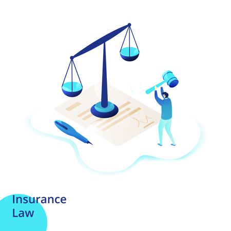 Web design page templates for Insurance Law Illustration