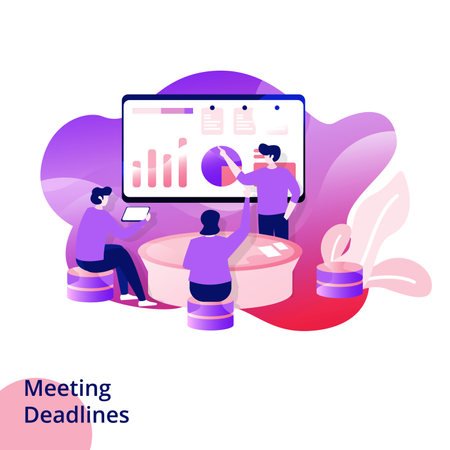 Web design page templates for Meeting Deadlines Illustration