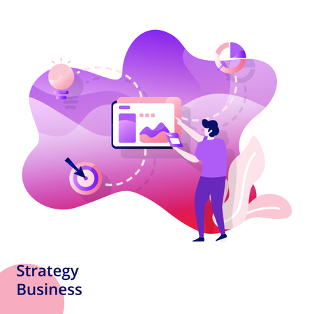 Web design page templates for Strategy Business Illustration