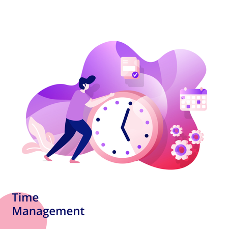 Web design page templates for Time Management Illustration