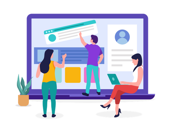 Web Designer Designing website Illustration