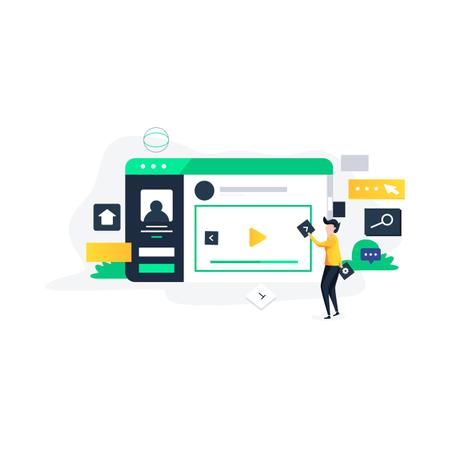 Web designing and development Illustration