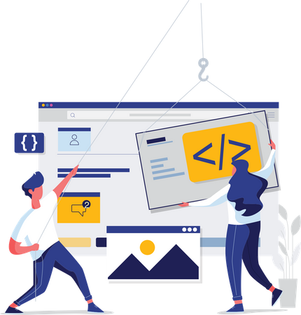 Web developement Illustration