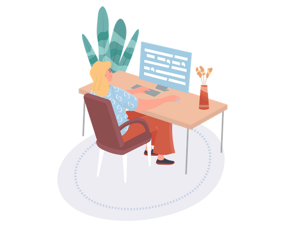 Web Developer Illustration