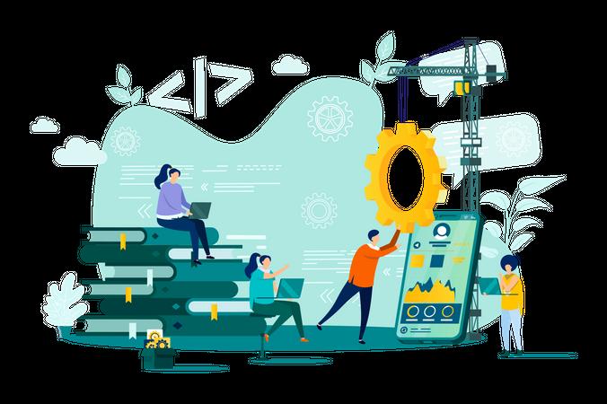 Web development Service Illustration