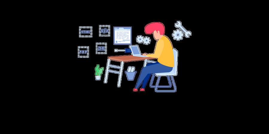 Web Development Services Illustration