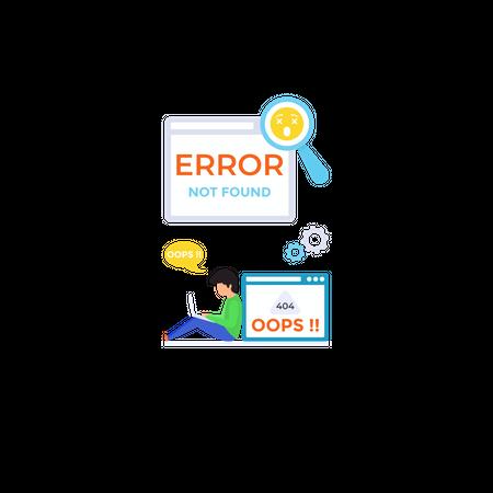 Web Error Illustration