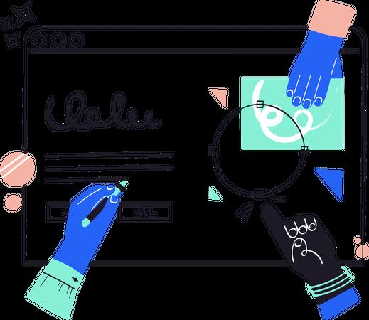 Web layout Illustration