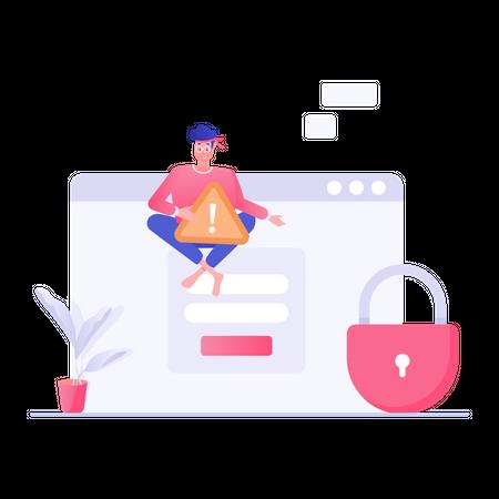 Web login Security Illustration