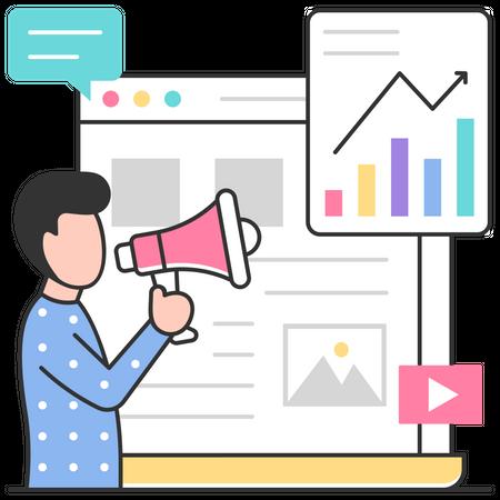 Web marketing Illustration