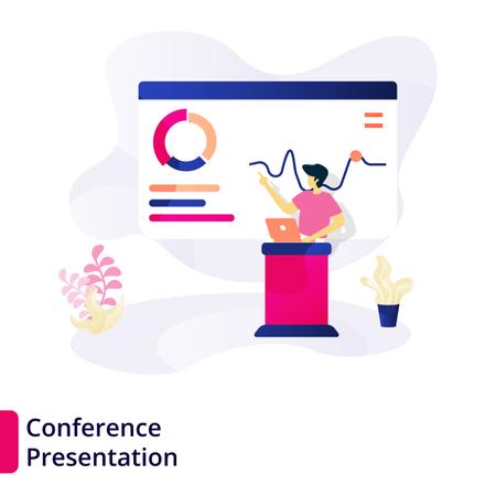 Web page design templates for Conference Presentation Illustration