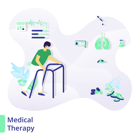 Web page design templates for medical and health, Medical Therapy Illustration