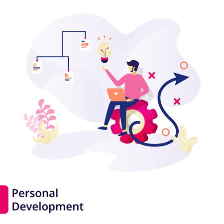 Web page design templates for Personal Development Illustration