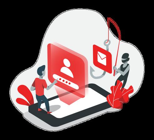 Web phishing Illustration
