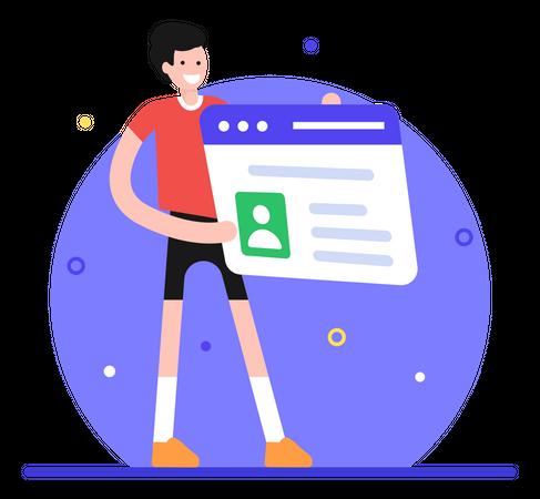 Web Profile Illustration