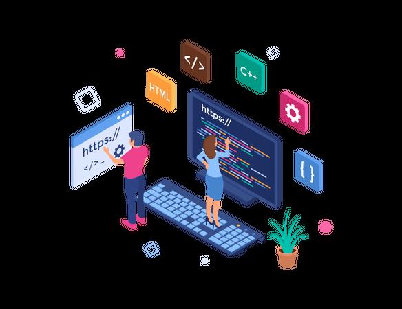 Web programming Illustration