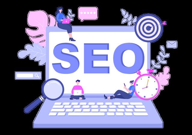Web search optimization Illustration