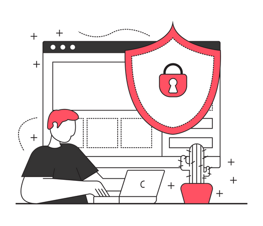 Web Security Illustration