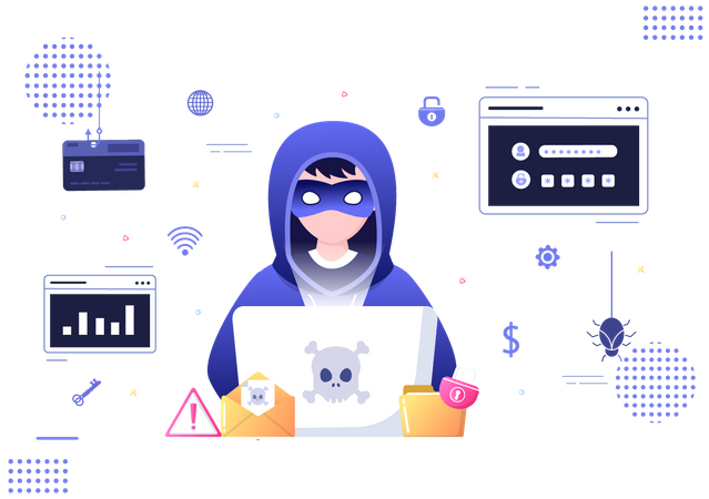 Web security breache Illustration