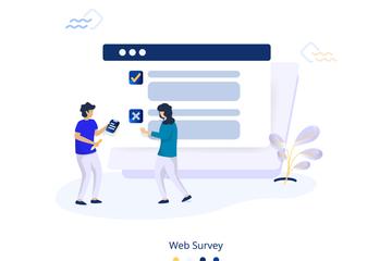 Survey Illustration Set Illustration Pack