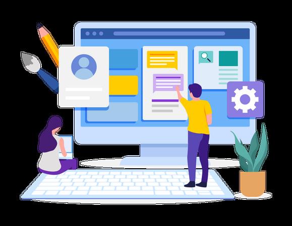 Web Template Design Illustration