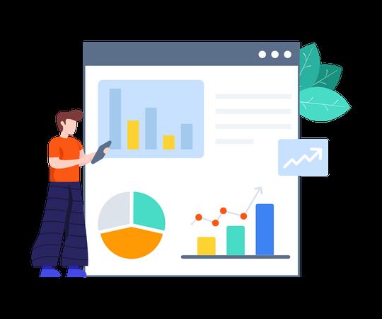 Website Analysis Illustration
