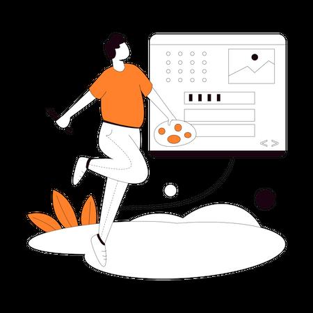 Website Decoration Illustration