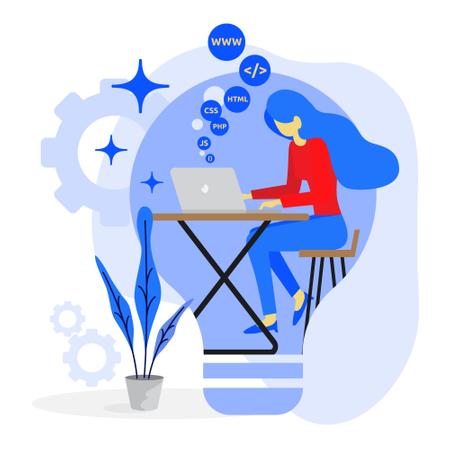 Website development concept Illustration