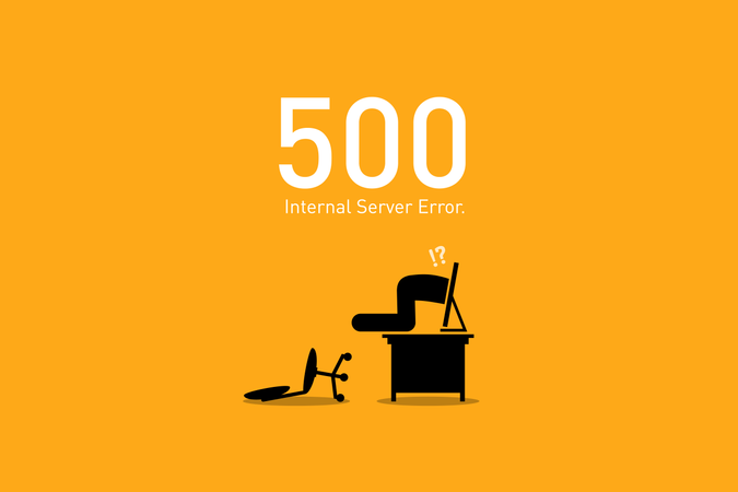 Website Error 500. Internal Server Error. Illustration