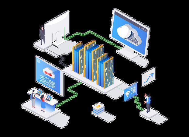 Website hosting service Illustration