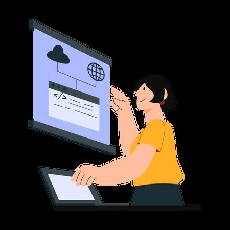 Website interface development Illustration