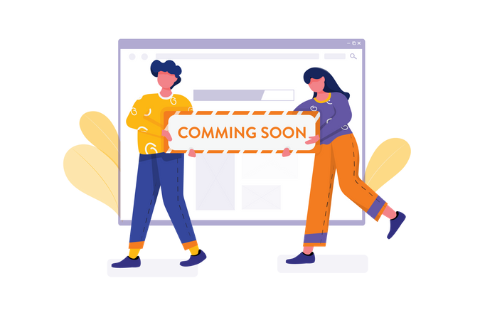 Website launching coming soon Illustration