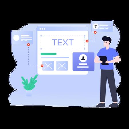 Website Prototyping Illustration