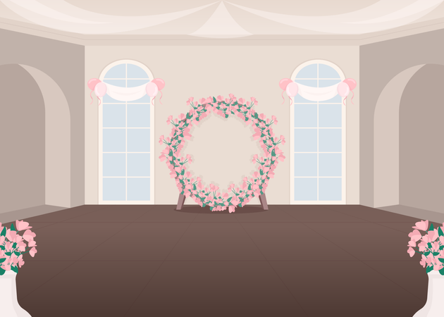 Wedding event hall Illustration