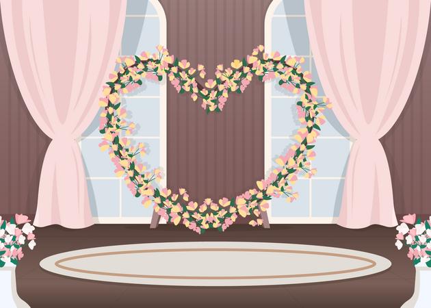 Wedding hall photozone Illustration
