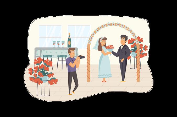 Wedding photographer Illustration