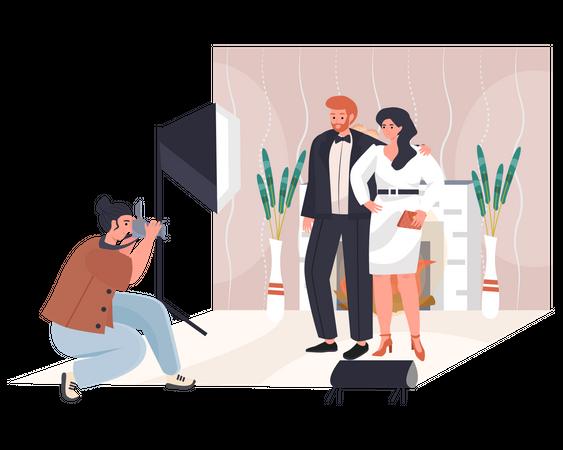 Wedding photoshoot Illustration