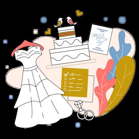 Wedding Planner Illustration
