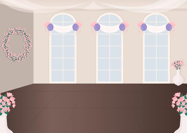 Wedding service hall Illustration