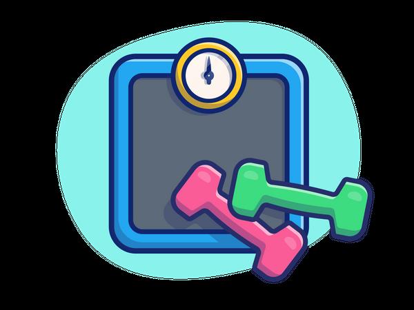 Weight machine Illustration