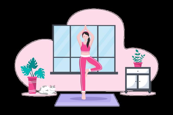 Wellness coach Illustration