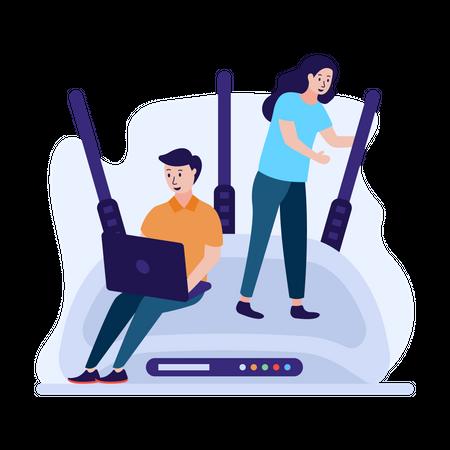 Wifi configuration Illustration