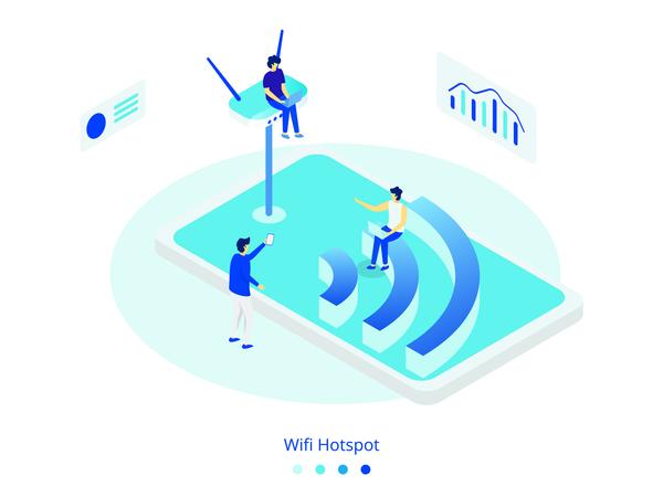Wifi Hotspot concept Illustration