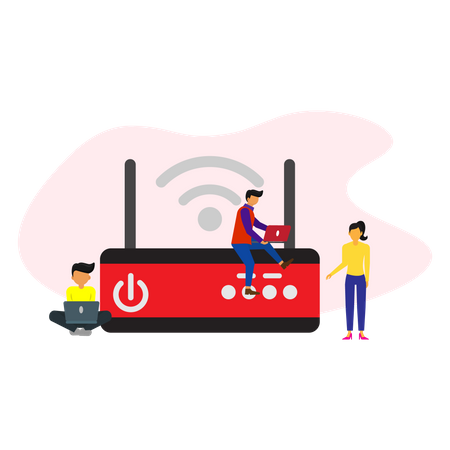 Wifi router Illustration