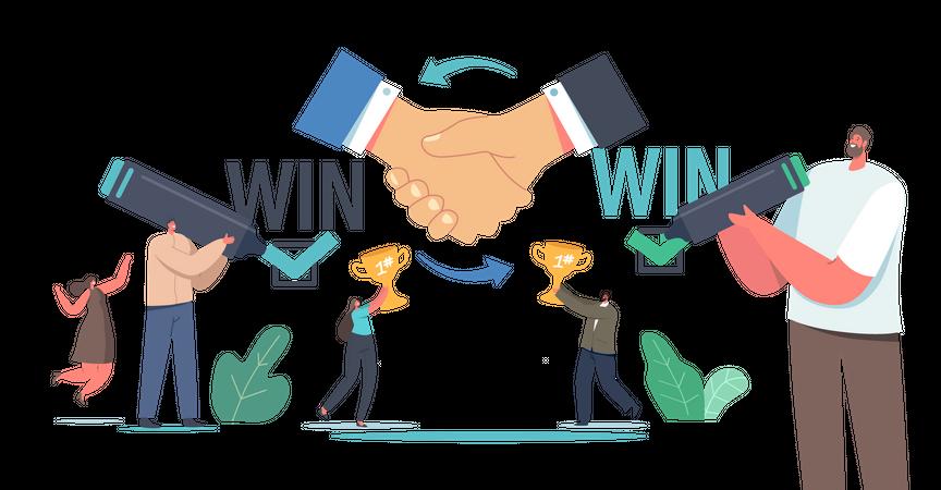 Win Win Strategy Solution Illustration