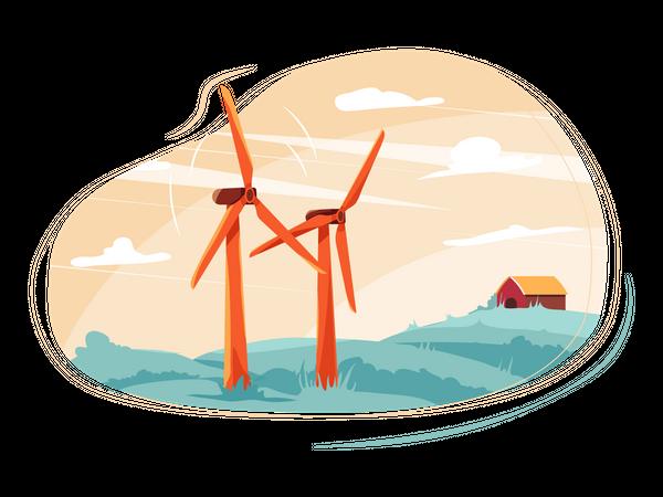 Wind energy Illustration