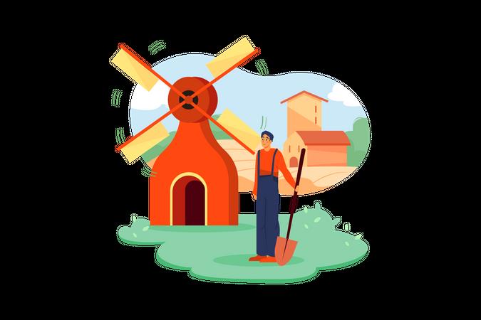 Windfarm Illustration
