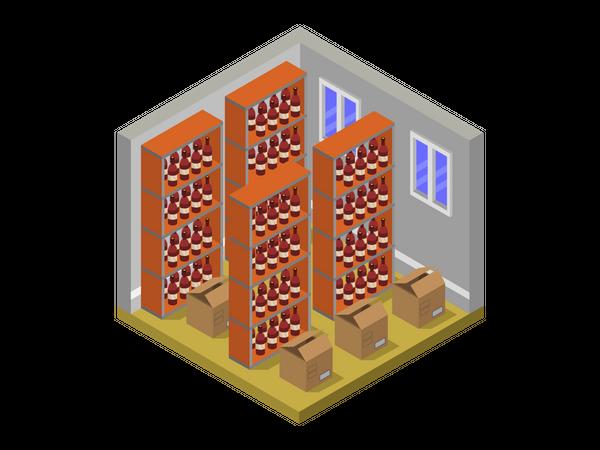 Wine storage Illustration